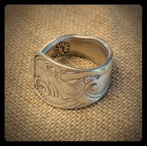 Siren Spoon Ring Sterling Silver Plated